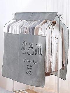 Housse de Protection Anti-poussière pour vêtements Garde-Robe penderie étagère de Rangement Transparente Non tissée Taille...