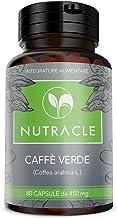 NUTRACLE - 80 cápsulas de Café Verde de 450 mg | Quema de