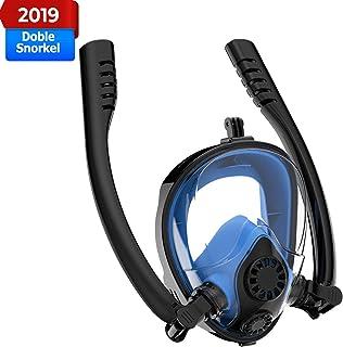 comprar comparacion Mascara de Buceo, 2019 Respiración Segura patentada Gafas de Buceo Completa, a Prueba de Agua y Niebla Gafas de Buceo Comp...