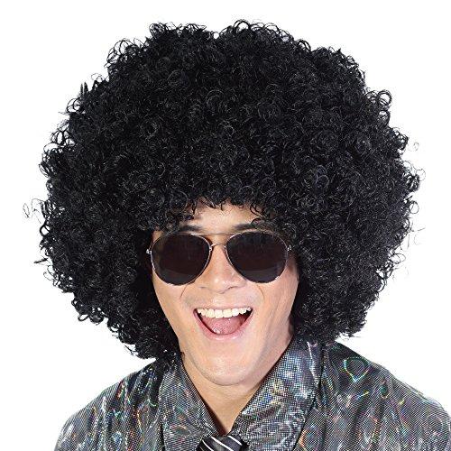 Black Mega Jumbo Afro Wig-Large Kinky Fluffy Synthetic Halloween Party Costume Hippie 70s Punk Rocker Cosplay Disco Clown Fancy Funny Wigs