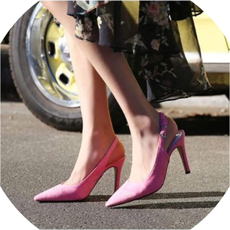 Charming Elegant Multicolor Suede Women's shoes Sexy High Heels Pumps & Sandals Dress Party shoes