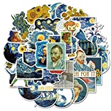 JUNZE Pegatinas de Girasol Pintura al óleo Graffiti Pegatinas en portátil Scrapbook Maleta Equipaje niños decoración Pegatinas 40 Uds