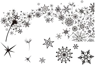 Merry Christmas Winter Snowflake Background Dandelion Background Sparckle Stamp Rubber Clear Stamp/Seal Scrapbook/Photo Album Decorative Card Making Clear Stamps