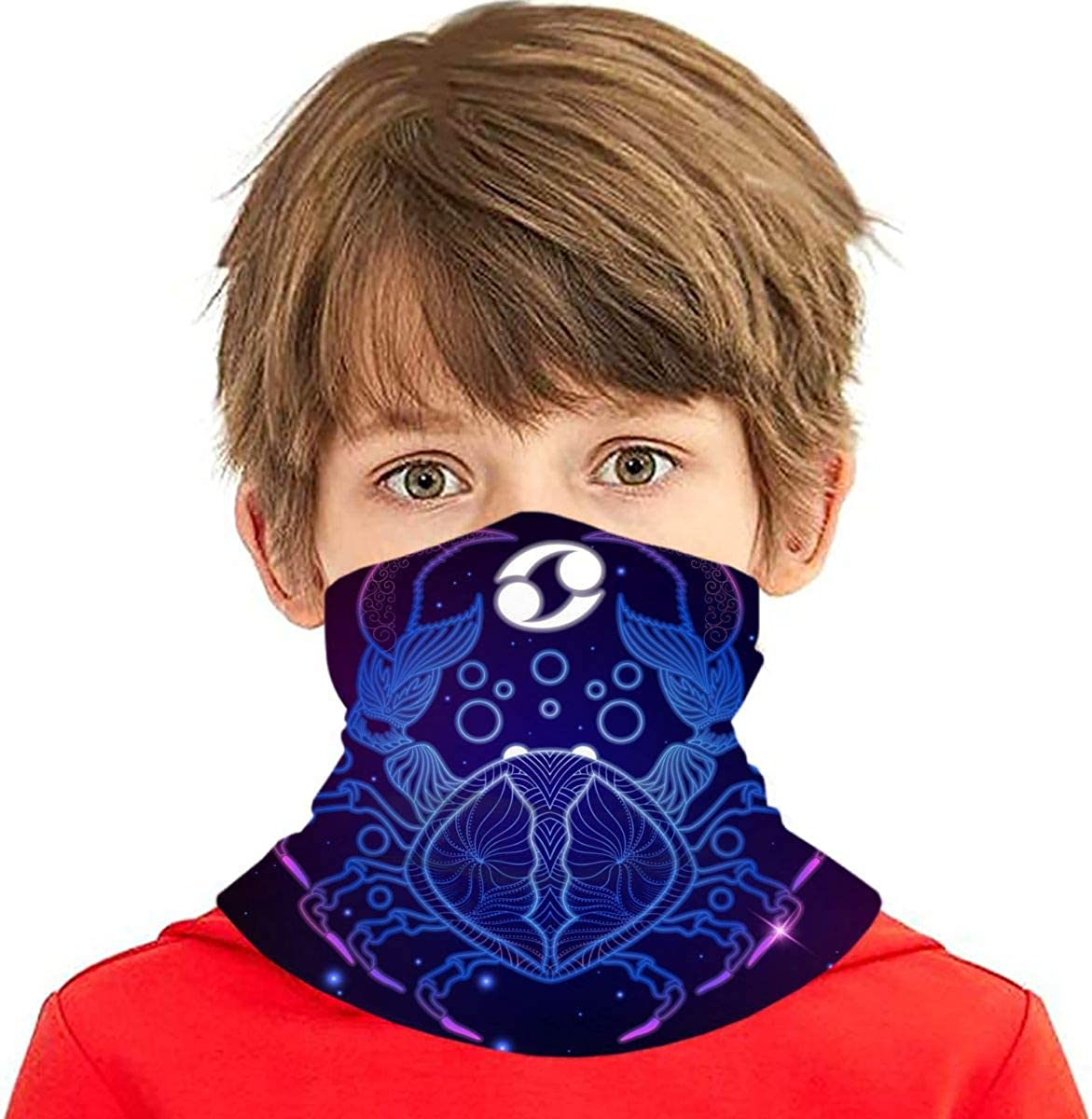 Dujiea Kids Bandanas Face Mask Cancer Zodiac Sun UV Sign Max 53% OFF P Dust Max 43% OFF