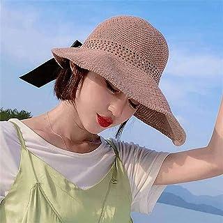 SONGYU Visières Chapeau de Paille, Chapeau de Femme Chapeau de Soleil d'été Voyage Anti-UV Chapeau de Soleil Protection So...