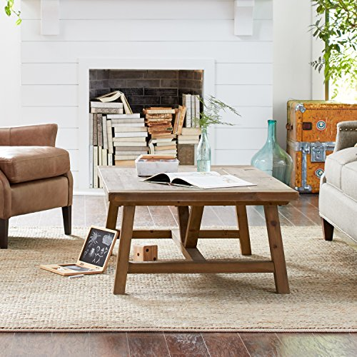 "Stone & Beam Standard Farmhouse Coffee Table, 55.1""W, Wood"