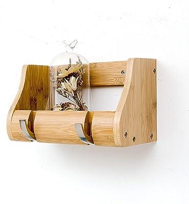 Amazon.com: CJC - Perchero de bambú para colgar en la pared ...