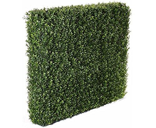 Buchsbaumhecke mit UV imprägnierten 3837 PE Blättern, H:80 x B:98 - Künstliche Buchshecke 98cm breit 80cm hoch mit UV Schutz -Buxbaumhecke künstlich als perfekte Raumtrennung