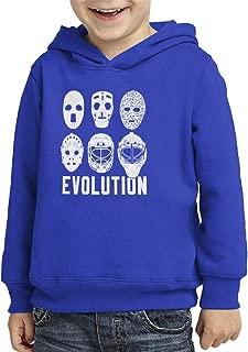 Evolution of Hockey Mask - Goalie Toddler/Youth Fleece Hoodie