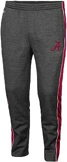 Colosseum Alabama Crimson Tide Adult NCAA Luge Fleece Pants - Charcoal,