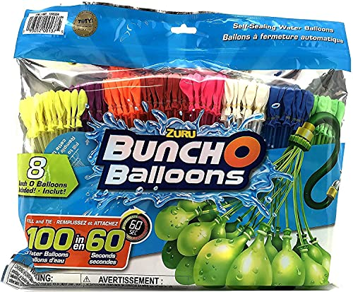 ZURU Bunch O Balloons. Fill and Tie 100 Water Ballons in 60 Seconds. 8 Bunch O Balloons Included in This Set
