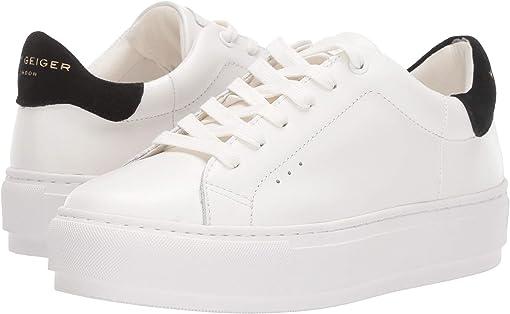 White/Black Leather