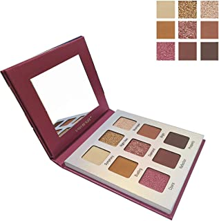 Highly Pigmented Eyeshadow Palette,YMH BEAUTE 9 Bright Colors Eye Shadow Palettes Matte Eyeshadow Makeup Palette Long Lasting Waterproof Colorful Cosmetics (Warm Natural Nude))