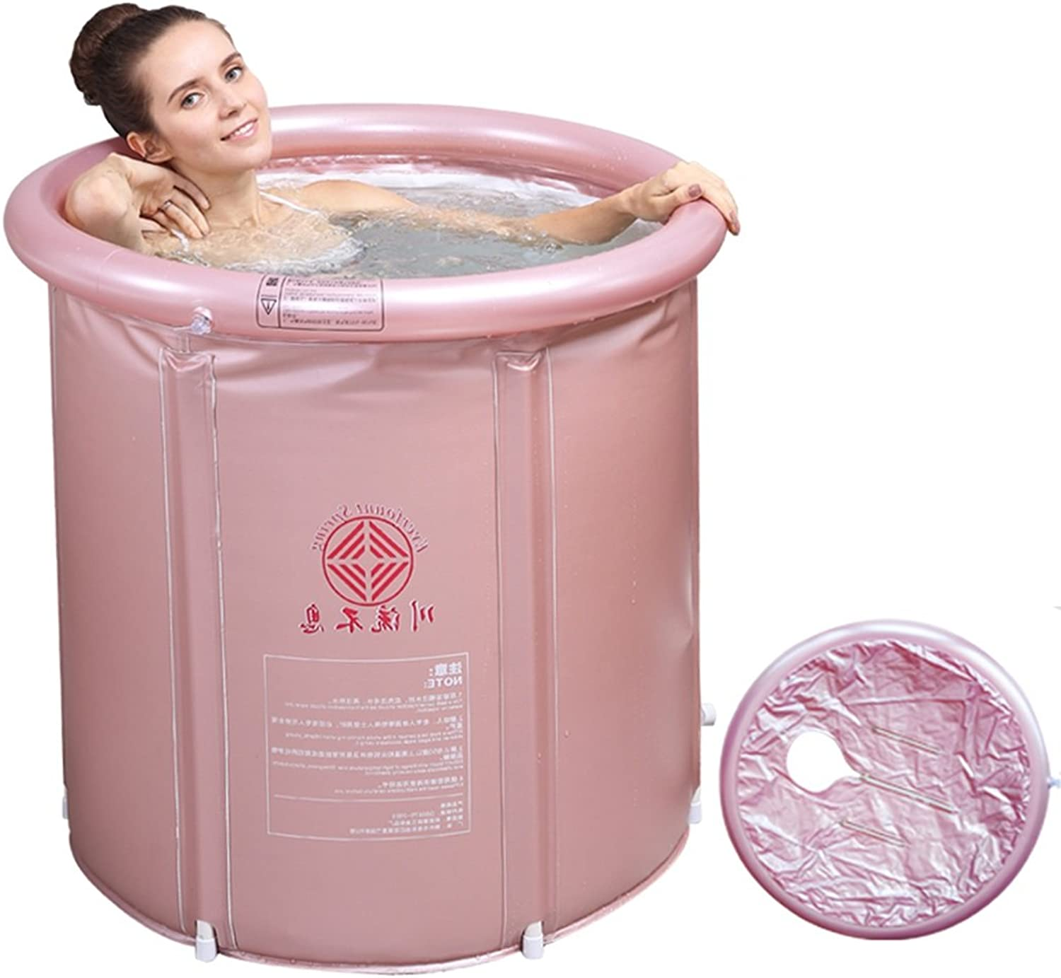 Heating Bath Tub Folding Thickening Bath Bath Tub Adult Inflatable Home Khan Steamed Fumigation Barrel ( Size   Trumpet )