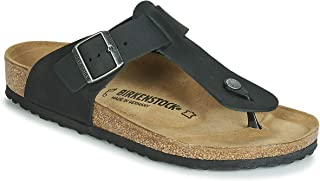 Birkenstock Men's Tongs Medina Cuir Gras Noir Sandal