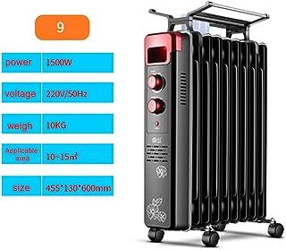 Radiador De Aceite De 2000 W: Radiador Eléctrico De Bajo Consumo con Aletas 9-13, 3 Configuraciones De Calor, Termostato Ajustable Y Función De Apagado De Seguridad