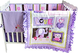 owl crib set girl
