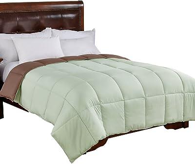 Home Elements Reversible Down Alternative Comforter, Full/Queen Size, Green