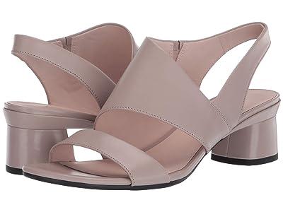 ECCO Elevate 45 Block Sandal (Grey Rose Calf Leather) Women