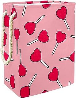 Vockgeng Bonbons Amour Rose Panier de Rangement Panier de Rangement imperméable Pliable de Jouets de Jouets de Panier avec...