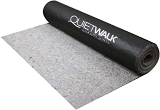 MP Global Products QW360LV QuietWalk 360 Sq Ft Acoustical Underlayment with Vapor Barrier for Luxury Vinyl Flooring, Black