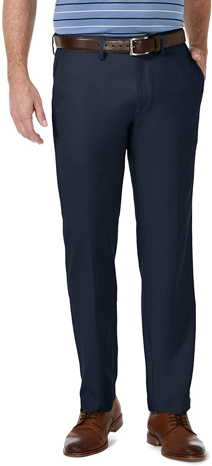 Haggar Men's Cool New Shipping Free Shipping Super sale period limited 18 Pro Straight Waist Fit Superflex Flat Front