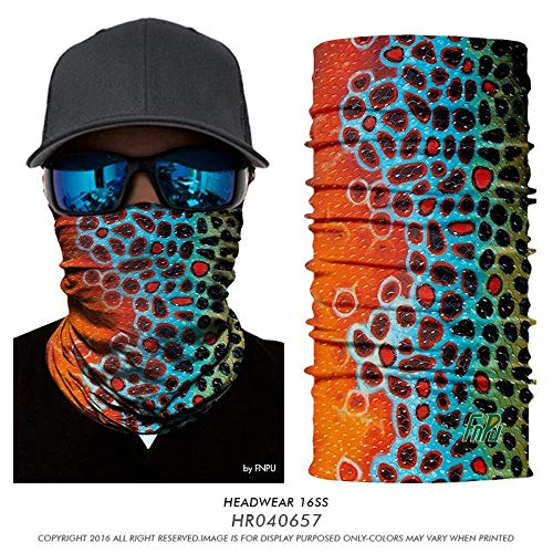 PAWANG 3D Hunting Face Mask Multifunctional Headwear Fishing Hiking Outdoor Fish Bandana Anti UV Trout Carp Cycling Magic Bandana Scarf