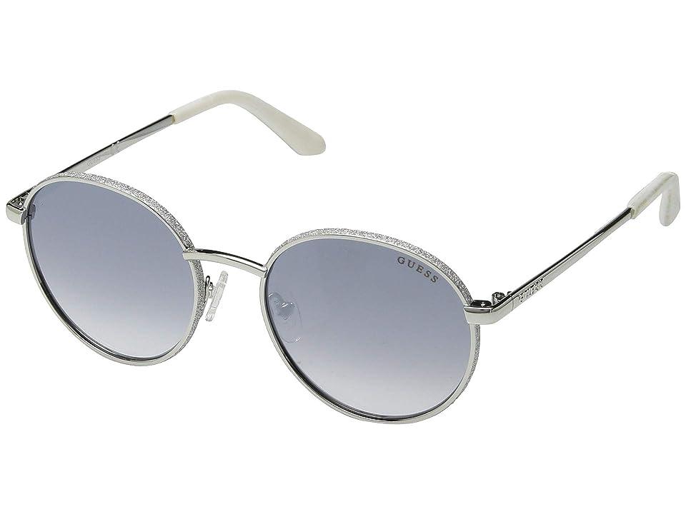 GUESS GU7556 (Shiny Light Nickeltin/Gradient Blue) Fashion Sunglasses
