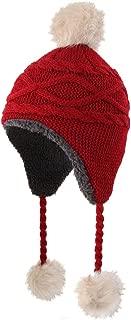 Girls Sherpa Earflaps Hat Kids Winter Hat Beanie Fuzzy Peruvian Hat