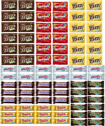 Chocolate Candy Variety Pack - Fun Size Chocolate Bar Assortment Mix (84 Pack)