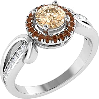 100% Pure Diamond Ring Luxury Diamond Engagement Rings For Women Natural Diamond Rings Quality I2-I3-HI 10K Real Diamond Rings For Women White Gold (Diamond Jewlery Gifts For Women)
