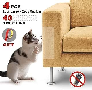 Idepet 4PIEZAS Gato Protector de arañazos para muebles con 40 tornillos,Protector de sofá para mascotas Evitar que los gatos rasguñen los muebles Evite el rasguño del cojín del sofá