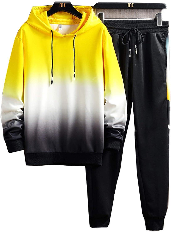 Men's Casual Printed Hoodies Sweatpants 2PCS Elastic Jog Spasm price Men Very popular Set