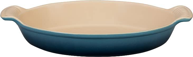 Le Creuset Heritage Stoneware Petite Oval Au Gratin Dish, Marine