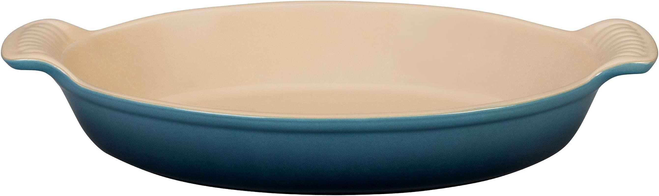 Le Creuset Stoneware Heritage Oval 24OZ Au Gratin Dish Marine