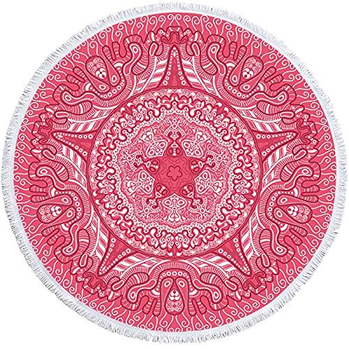 KLily Mantas Redondas para El Hogar De La Serie Rosa, El Material De Microfibra Se Puede Lavar, Es Suave Y Agradable para La Piel, Adecuado para Mantas De Siesta para Bebés