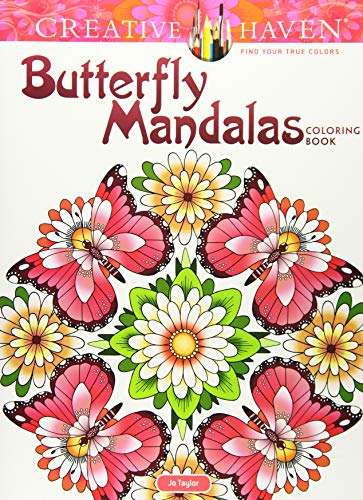 Creative Haven Butterfly Mandalas Coloring Book (Adult Coloring) (Creative Haven Coloring Books)