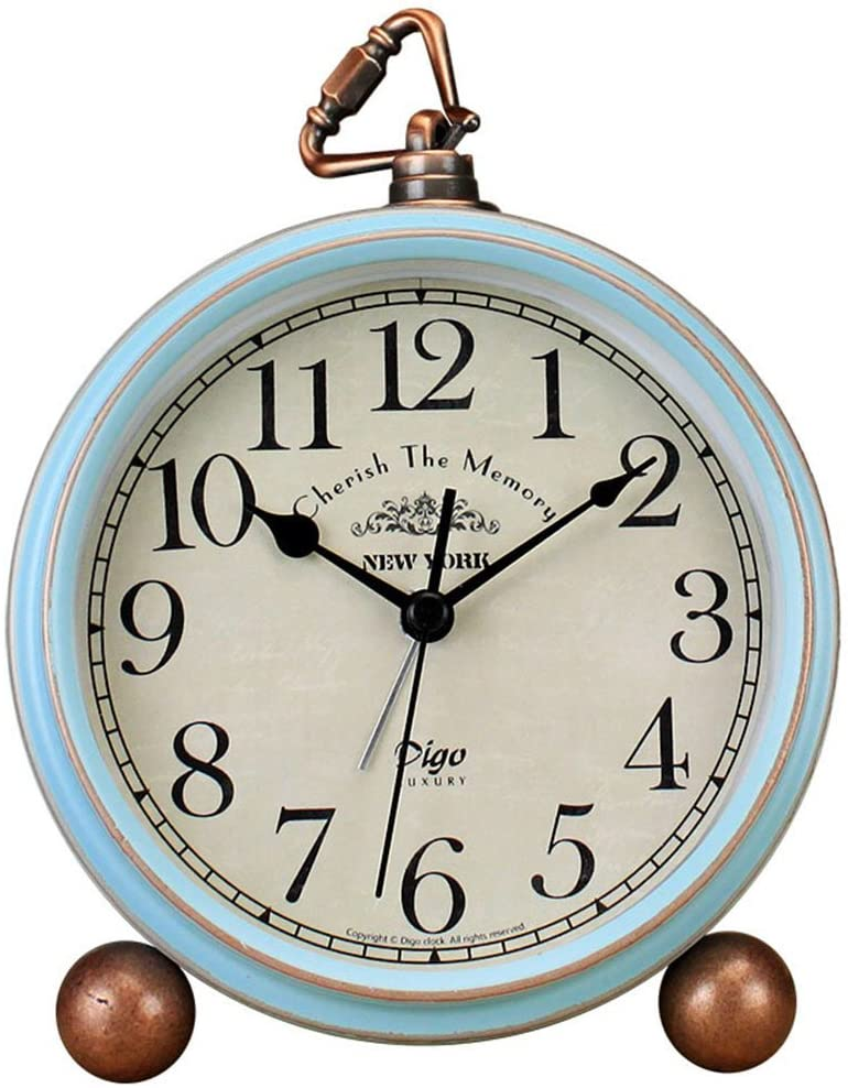 JUSTUP Table Clock Vintage B Ranking TOP18 Non-Ticking Alarm Desk Max 75% OFF