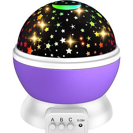 ATOPDREAM Proiettore Stelle per Bambini con 8 Luci Colore & 360° Rotazione - Regali per Bambini