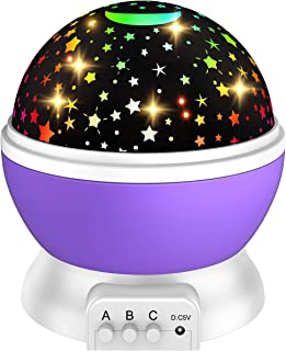 ATOPDREAM Birthday Gifts for 2-10 Year Old Girls, Moon Star Projector Light for Kids Xmas New Toys for Girls Age 2-10 Birt...