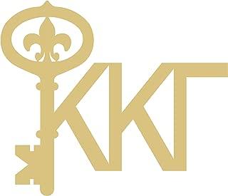 Kappa Kappa Gamma Key Cutout Unfinished Wood Door Hanger Sorority Greek MDF Shape Canvas Style 2 (12