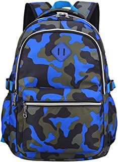 Yvechus School Backpack Casual Daypack Travel Outdoor Camouflage Backpack for Boys and Girls