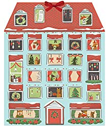 The entire family will enjoy reading the fun facts behind each window on this vibrant Christmas House Advent Calendar.