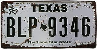 ERLOOD Texas BLP-9346 Retro Vintage Rustic Home Bar Wall Decor Car Vehicle License Plate Souvenir Metal Tin Sign Plaque 6 X 12