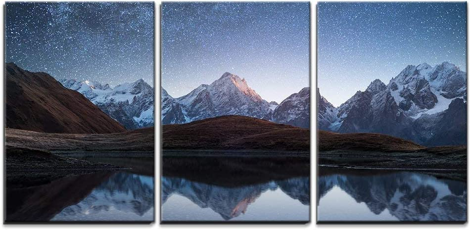 wall26 Cheap bargain - 3 Piece Canvas Wall Art and Stars Sky Max 54% OFF Night The with