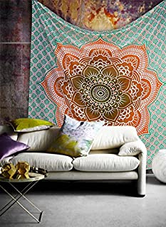 Popular Handicrafts Tapestry Wall Hanging Hippie Mandala Bohemian Wall Tapestry Psychedelic Indian Bedspread Magical Thinking Tapestry 84