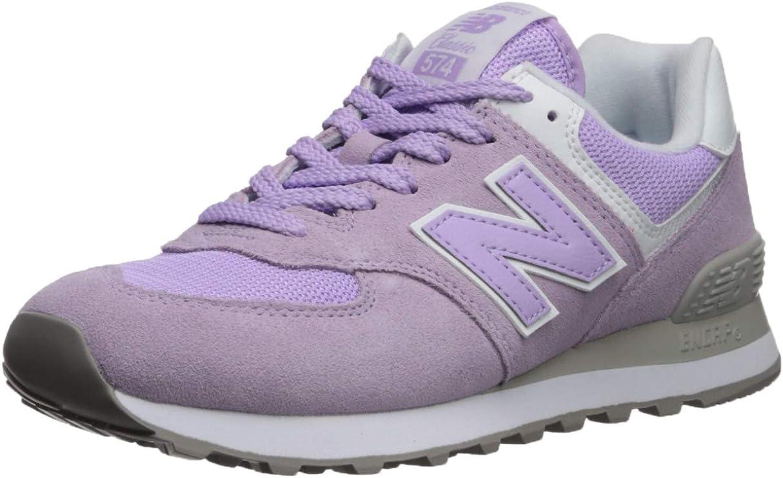 New Balance WL574, Baskets Femme, Rose (Violet Glo/White Esd) 35 ...