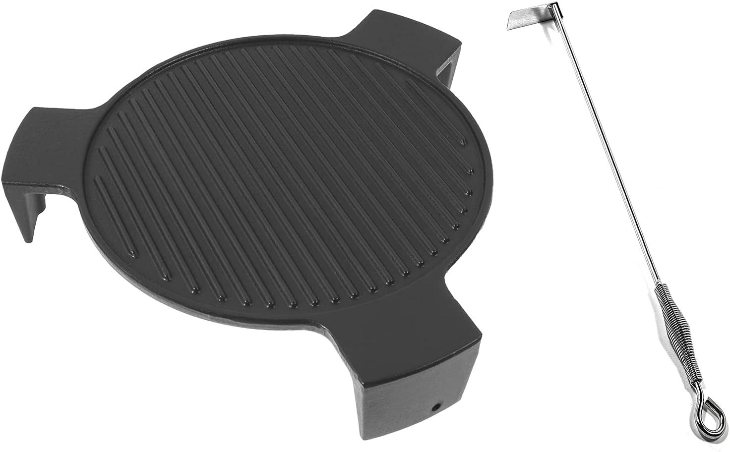 DELSbbq Cast Iron Plate Setter for Egg Big Kamad 日本メーカー新品 Green Large 開催中 18