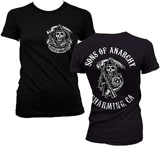 Officially Licensed Merchandise SOA Full CA Backprint Girly T-Shirt