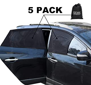 Tirol Sides Window Sunshades Universal All 4 pcs/set Car Curtains the Whole Sun UV Visor Protector Mesh Cover Privacy Shield